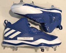 Adidas PowerAlley 4 Tpu Mid Blue/White/Men's 13 Baseball Cleats Q16578