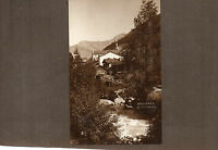 Switzerland Orsieries and river Dranse Sepia  1950's card unposted