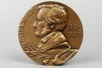 Bronze Medaille - Richard Wagner  - Huguenin Gedenkmedaille - Komponist