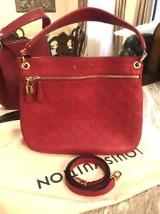 Louis Vuitton Spontini handbag in red empreinte monogram leather 10/10 condition