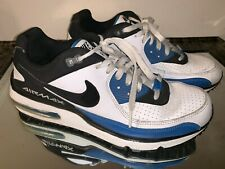 differently aabae 70ebb Nike Air Max Wright White Black Blue Men s Sneakers Size 10 317551-106