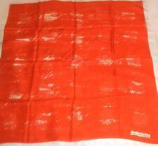 "TRUE VINTAGE 70'S Balenciaga Orange 33"" Square French Silk Scarf Very HTF UNWORN"