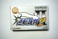 Game Boy Advance Gyakuten Saiban Ace Attorney 2 boxed Japan GBA Game US Seller