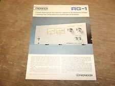 Pioneer vintage stereo RG1 original catalogue cataloge printed in JAPAN