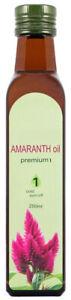 Amaranth oil 100%. natural, food, cold pressed 250 ml