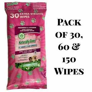 PET ODOUR STAIN REMOVER EXTRA STRONG WIPES AIRPURE NATURALLY GONE 30,60,150