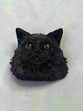 Harmony Kingdom Art Neil Eyre Designs long Black feline kitty cat Kitten magnet