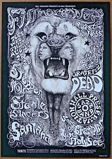 Grateful Dead  Steppenwolf Santana1968 Concert Authorized Limited Edition Poster
