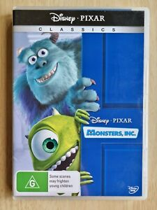 Monsters Inc Disney Pixar DVD Movie Cartoon Kids Classics Like New Free Post R4