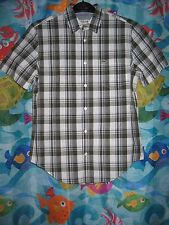 NWT Mens Lacoste Multi-Color Plaid Regular Fit Short Sleeve Shirt FR 38/US Small