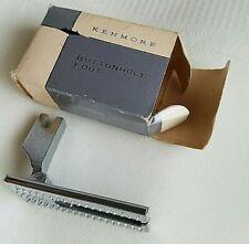 Vtg Metal Sliding Buttonhole Foot Attachment Kenmore Sewing Machine w/Box #60855