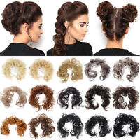 Women Natural Curly Messy Bun Hairpiece Ponytail Scrunchie Hair Updo Extension