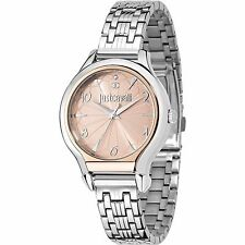 Orologio Watch Just Cavalli Donna Uhr Fusion Acciaio Rosa Numeri R7253533502 New