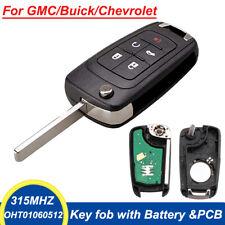 Keyless Remote 5 Button Flip Car Key Fob for Chevy 2010-17 Sonic GMC HT01060512