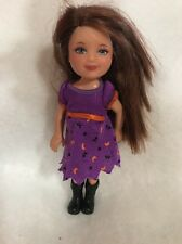 """Barbie Sister Kelly Doll Halloween Outfit Costume 6"""" Doll Strawberry Hair"""