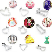 9Pcs/Set Dress Stainless Steel Cookie Cutter Biscuit Cookies Pastry Mold Charm
