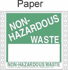 Non-Hazardous Waste Paper Labels HWL365 PAPER (PACK OF 500)