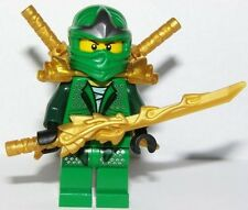 LEGO NINJAGO MINIFIGURE LLOYD ZX GOLD ARMOR, SHAMSHIR, DRAGON SWORDS 9450