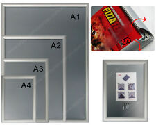 2 x A2 Size  Wall Mount Snap Poster Holder/ Picture Frame / Aluminium Frame