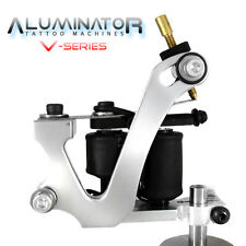 "Aluminator Classic ""V"" 8-Wrap Tattoo Machine LINER & SHADER (Silver) Supply Ink"