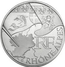 """10 euros régions """"drapeau"""" (argent) Rhône Alpes 2010"""