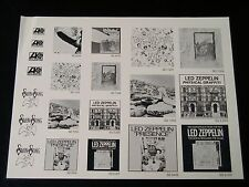 Led Zeppelin-Original 1977 Camera Ready Ad Art Sheet