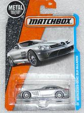 BRAND NEW MATCHBOX MERCEDES BENZ SLR MCLAREN SILVER LONG CARD 29/125 VERY RARE