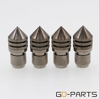 Gray Brass Speaker AMP DAC Isolation Spike Stand Cone M8 Bolt 33x15mm For HIFIx4
