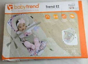 Baby Trend Soft Cozy Reversible Adjustable 3 Point Safety EZ Bouncer, Bluebell