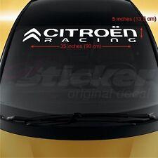 Citroen Racing WINDSHIELD CAR STICKER vinyl decal Berlingo C1 C2 C3 C4 C5 C6 C8