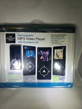 Sharper Image Rechargeable Mp3 Video Player w/ Accessory Kit New