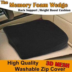 Memory foam wedge-shaped seat cushion lower basic posture supports car office