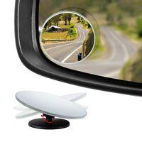 "HD Frameless Blind Spot Mirror - Round 2"" Convex Glass Mirror - Pack of 2"