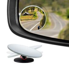 "HD Frameless Blind Spot Mirror - Round 2"" Convex Glass Mirror - Pack of 2"