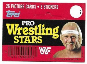 1985 Topps Pro Wrestling Stars HULK HOGAN RACK PACK HEADER CARD Rookie RC VG