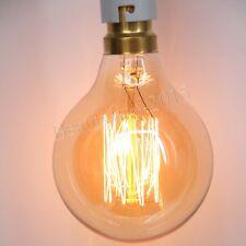 Vintage Filament Retro Edison Bulb B22 Bayonet Globe Industrial Light Lamp 40W