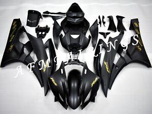 Matte Black ABS Injection Mold Bodywork Fairing Kit Panel Set for YZF R6 06-07