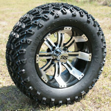 """Seat of 4 Golf Cart 12"""" Tempest Wheels Mounted On All Terrain Off Road Tires"""