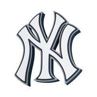 MLB New York Yankees 3D Foam Logo Magnet Offically Licensed