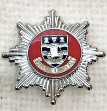 LINCOLNSHIRE Lindsey County Fire Brigade, cap badge silver waves