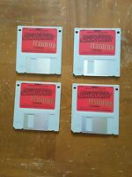 Vintage Floppy Disk Set of 4 Where in the World is Carmen Sandiego?