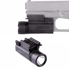 300 Lumen Rilfe / Pistol LED Flashlight /Strobe Light Picatinny Rail QR Mount