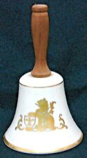 Danburt Mint Bell Pickard China Gold Lion Shield With Wooden Handle.