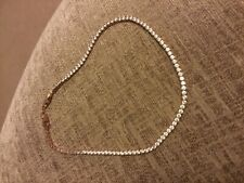 "Swarovski crystal/rose gold two tone ""tennis"" necklace"