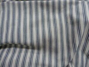 Pottery Barn Comfort Sleeper  sofa slipcover  Blue ticking stripe Box edge