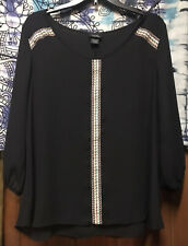 21  WOMEN/'S Blue STRIPED TOP//blouse Long Sleeves  Size 2XL New RUE