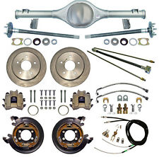 CURRIE 66-77 BRONCO REAR END & DISC BRAKES,LINES,PARKING BRAKE CABLES,AXLES,ETC