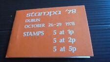 IRELAND 1978 DUBLIN EXHIBITION BOOKLET