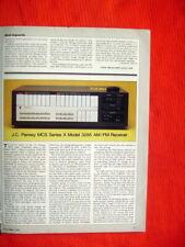 "Akai GX-R6 cassette deck, J.C. Penney MCS 3285 receiver reviews ""Stereo Review"""