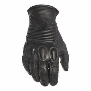 Speed and Strength Women's Pixie Leather Motorcycle Gloves Black